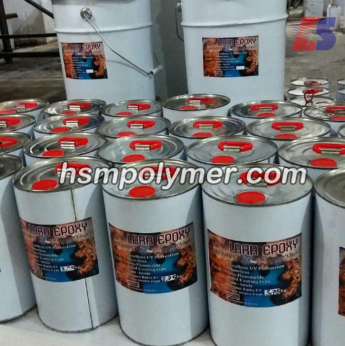 نوع رزین و درصد اختلاط رزین اپوکسی با هاردنر آن